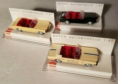 rot metallic Busch Ford Mustang Cabrio 1964 47513-1:87