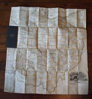 Ohio Railway Map 1892 From State Representative to Shelby County Man Cloth Board