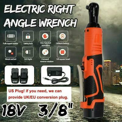 18//28//42V 60//85//90N.m Right Angle Cordless Electric Ratchet Wrench Battery Kit