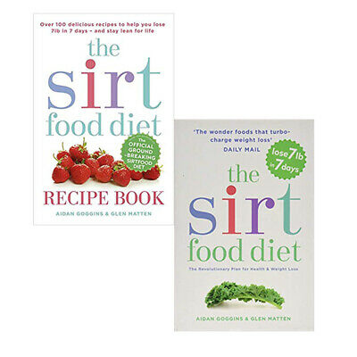 Aidan Goggins 2 Books Collection The Sirtfood Diet Recipe BookThe Sirtfood Diet