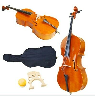 New High Quality 4/4 Full Size BassWood Cello+Bag+Bow+Bridge+Rosin