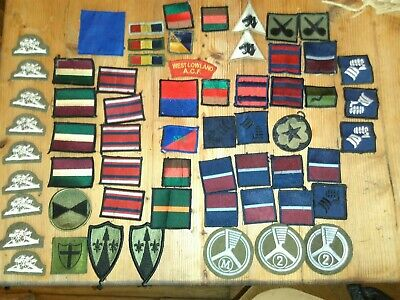 Huge Job lot of 60 Army Military Cloth patches