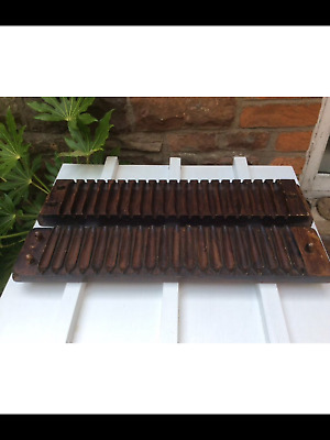 A vintage Dutch wooden Cigar Mould