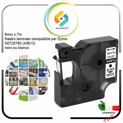 120P come Dymo D1 150 250 LabelManager 100 200 100 Plus 300 45013. 5x vhbw Cartucce a nastro 12mm per Dymo Labelpoint 100 350