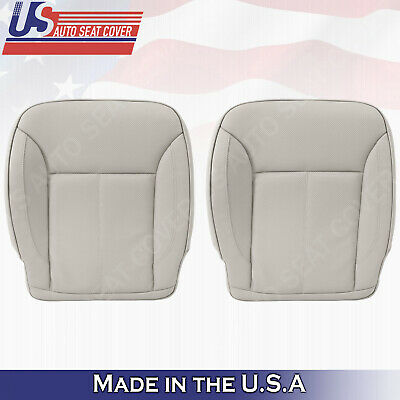 Solid Black Deluxe Perf Leather Full Car Seat Covers Set Split Fold  SUV Dk3992