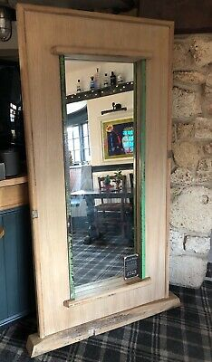 Large Rustic Reclaimed Oak Mirror Made From A  200 Year Old Church Pew 2M By 1M
