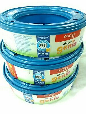 PLAYTEX Diaper Genie Refill Bags, 3 Pack, 810 Count, BRAND NEW