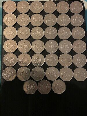 39 x 2013 Christopher Ironside 50p fifty pence Very Rare Coin Hunt Great British
