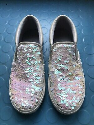 Sequin colour changing girls shoes.  From Next - size 2-  sparkly