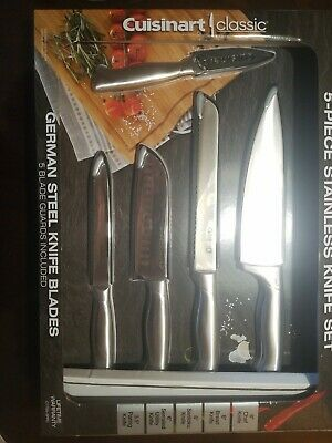 Cuisinart Classic 5-piece German Stainless Steel Knife/Blades Set w Blade Guards