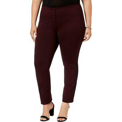 Alfani Womens Ponte Comfort Waist Skinny Leg Dress Pants Trousers Plus BHFO 8377