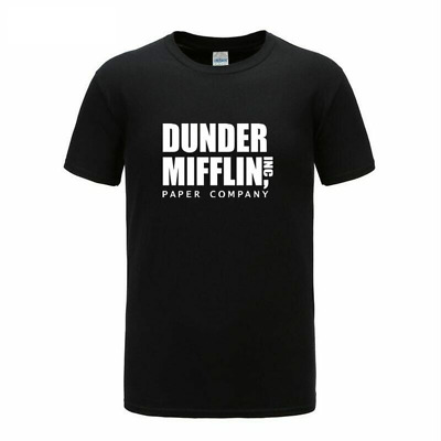 Dunder Mifflin Paper Company T Shirt The Office TV Show Men Short Sleeve Mens