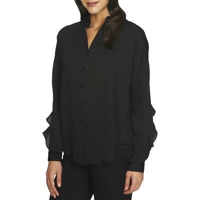 1.State Womens Ruffled Split Back Long Sleeves Button-Down Top Blouse BHFO 3134