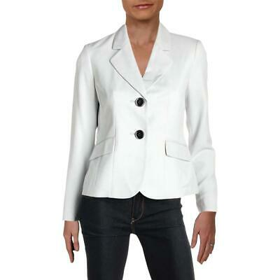 Le Suit Womens Gray Fitted Office Two-Button Blazer Jacket Petites 2P BHFO 1481