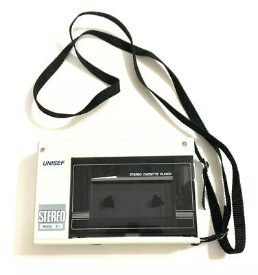 Vintage Unisef Stereo Cassette Player Model Z-1 Made In Japan Tested And Working