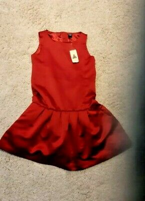 Baby Gap Toddler Girls Ruby Red Party Dress 5 year old. New with tags