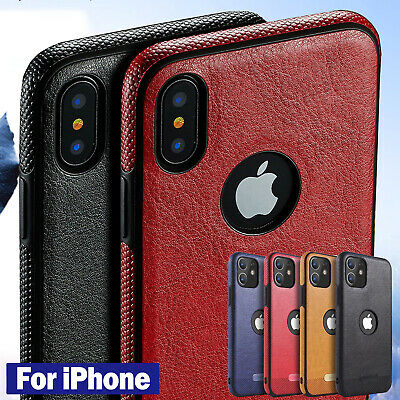 For iPhone 11 X 8 7 6 Plus SLIM Luxury Leather Back Ultra Thin Soft Case Cover