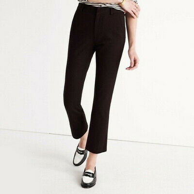 J.CREW Women's Size 00 Black Teddie Trouser Cropped Ankle Pants Stretch