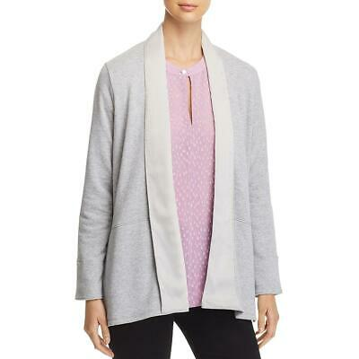 Donna Karan Womens Gray Relaxed Open Front Cardigan Sweater Top M/L BHFO 0826