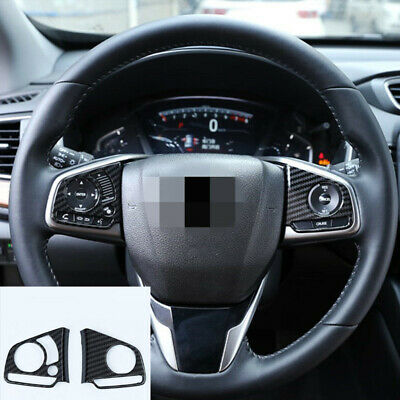 For Honda CR-V 2007-2011 Steering Wheel Cover Panel Trim Carbon Fiber Color