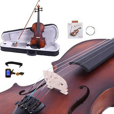 4/4 Classic High Quality Solid Wood Acoustic Violin Fiddle+Case+Bow+Rosin+Tuner