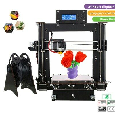 3D Printer Kit Upgraded Full Quality High Precision Reprap Prusa i3 Aluminium UK