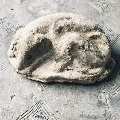 Chinese Han Dynasty  POTTERY LYING DOG  BURIAL ARTIFACT 2000 years old