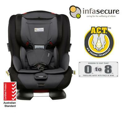New Infasecure Luxi II Astra Convertible Kid Infant Baby Car Seat 0-8 years Grey