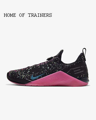 Nike React Metcon AMP Black Fire Pink Green Girls Women's Trainers All Sizes