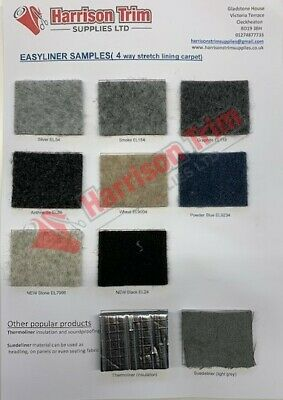 Easyliner stretch van lining carpet for campervan motorhome horseboxes SAMPLES