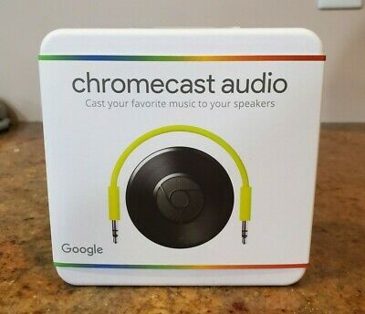 BRAND NEW! Google Chromecast Audio, Wifi media player - NEVER OPENED!