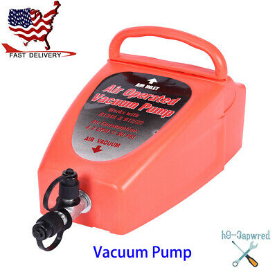 Pneumatic 4.2CFM Air Operated Vacuum Pump A/C Air Conditioning System Tackle