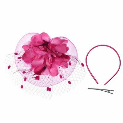 Ladies Royal Fascinators Wedding Races Sinamay Cocktail Fascinator Women Ca F6G4