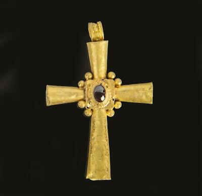 Beautiful Byzantine Gold and Garnet cross: 6th century AD.