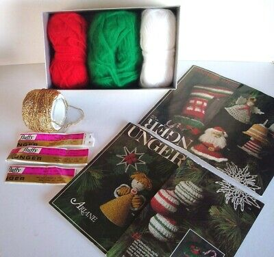 Unger Fluffy Yarn & Christmas Patterns (Stocking Supplies Kit) Ornament Patterns