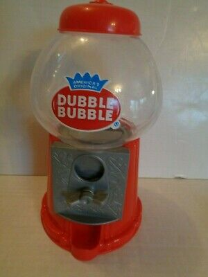Classic Red Dubble Bubble Gum Machine / Bank Plastic   13