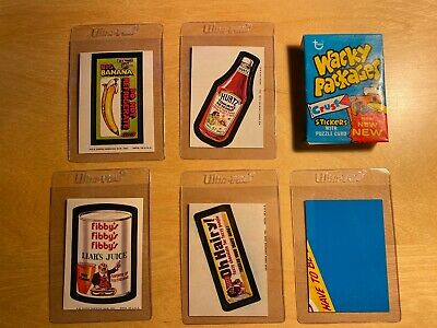 1974 Topps Wacky Packages Lot - Series 7 opened wax w/ wrapper