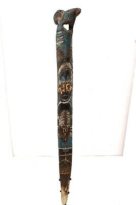 Papua New Guinea Dagger Carved Ritual Ceremonial Cassowary Weapon Painted