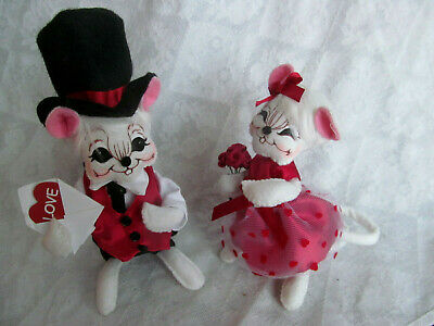 Annalee Dolls 2019 Valentine 6in Valentine Boy Mouse Plush New with Tags