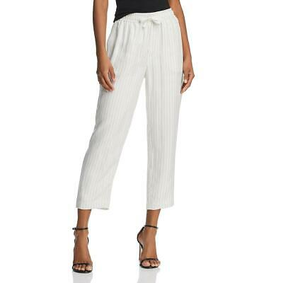 ATM Womens Pinstripe High Rise Casual Cropped Pants BHFO 2884