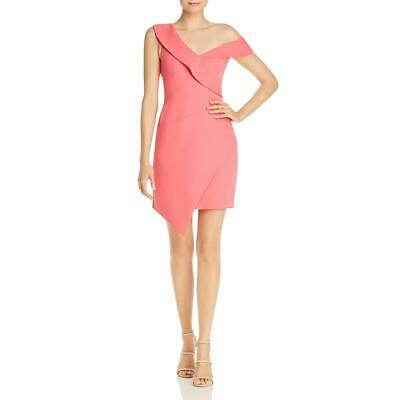 BCBG Max Azria Womens Pink Party Off-The-Shoulder Cocktail Dress 2 BHFO 5394