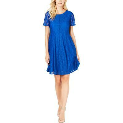 NY Collection Womens Lace Above Knee Sheath Casual Dress Petites BHFO 3906