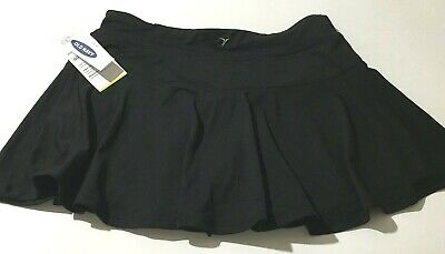 Old Navy Active GO-DRY COOL Skort Mid Rise Black Stretch Girls Size XL (14)