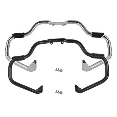 Chrome/Black Mustache Engine Guard Crash Bar For Indian Chieftain Chief Classic