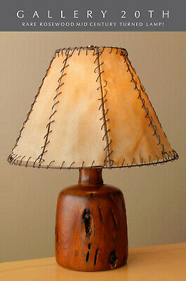 "Rare & Epic! Alexandre Noll Arts & Crafts Rosewood ""Worm"" Lamp! Vtg One Off"