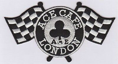 NEUF D131 //// ECUSSON PATCH AUFNAHER TOPPA CAFE RACER AS TREFLE 6,5*9 CM