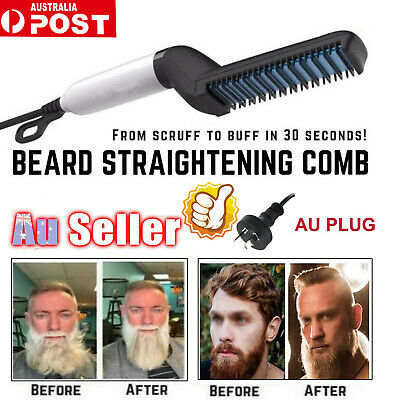 Quick Beard Straightener Hair Styler Multifunctional Comb Curler Show Cap Men FV