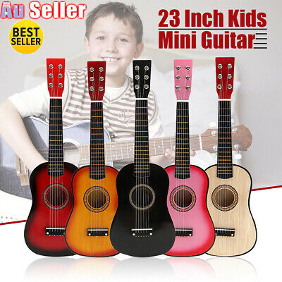 23'' Kids Acoustic Guitar 6 String Practice Music Instruments Children Gifts AU