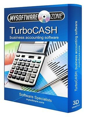 TurboCASH Business Accounting Software QuickBooks Sage Value Alternative PC NEW
