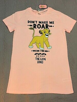 Disney The Lion King Nightshirt Women Girls Nightdress Nightie Pyjamas Primark